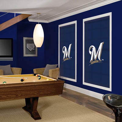 MLB Roller Shades: Milwaukee Brewers contemporary-window-blinds