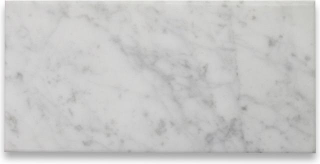 Carrara White 6 x 12 Subway Tile Satin - Marble from Italy tile