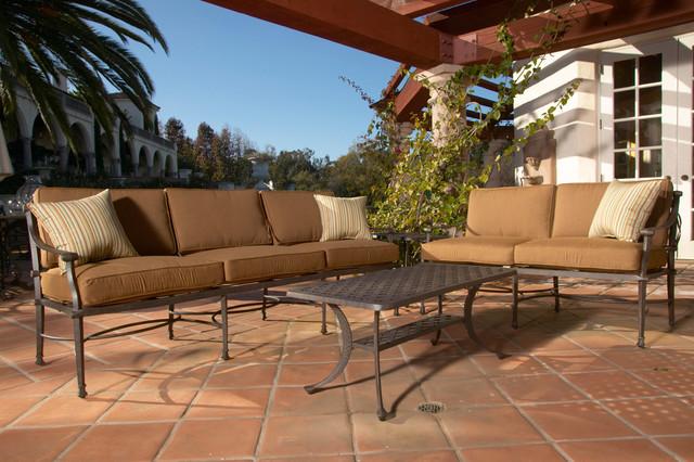 4 Pc. Encinitas Aluminum Outdoor Sofa Set by Sunset West modern