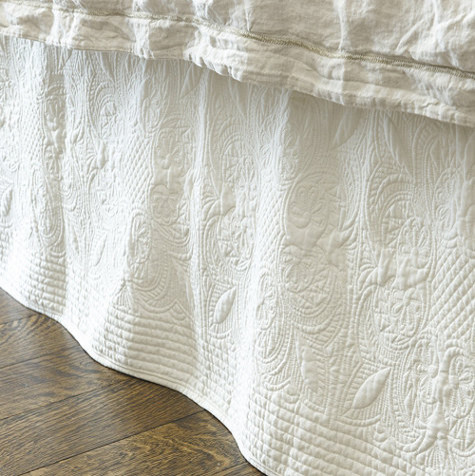 Marin Quilted Bedskirt Traditional Bedskirts By