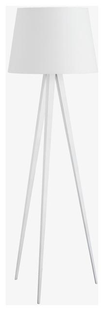 yves white tripod floor lamp base modern lamp bases by habitat. Black Bedroom Furniture Sets. Home Design Ideas