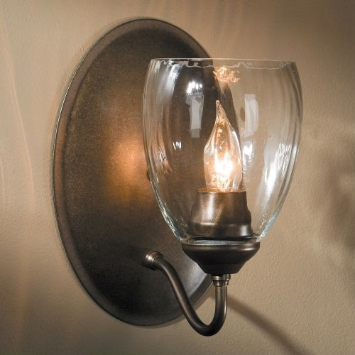 Simple Lines Single Wall Sconce with Water Glass - contemporary ...