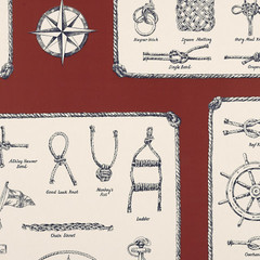 Sailing Knots – Racing Red - Children's - Wallcovering - Products - Ralph Lauren