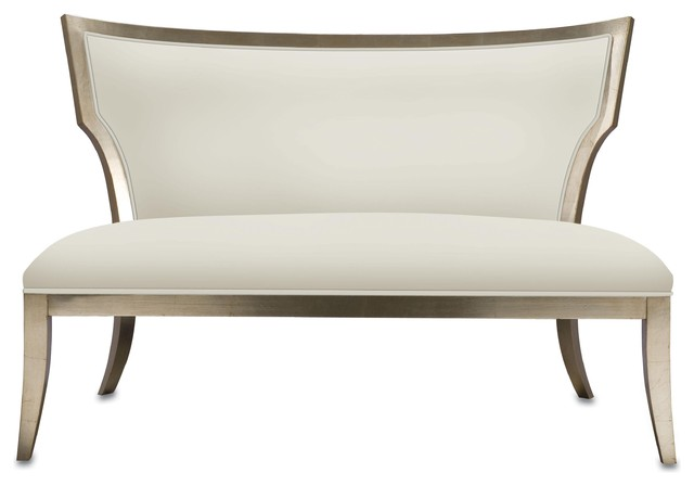 Currey and Company Garbo Settee traditional-benches