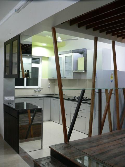Dilip  Residence modern-kitchen