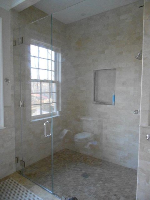 Frameless Shower Enclosure eclectic-showers