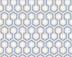 David Hicks Hexagon Wallpaper modern-wallpaper
