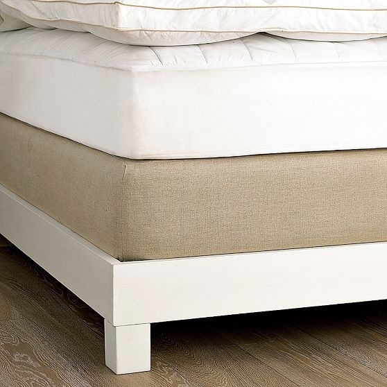 Linen Box-Spring Cover modern-mattresses