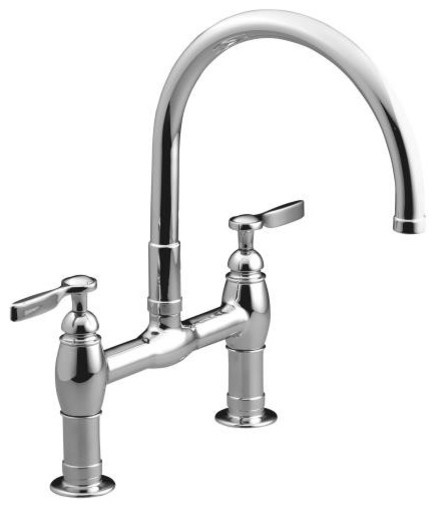 KOHLER K 6130 4 CP Parq Deck Mount Kitchen Bridge Faucet