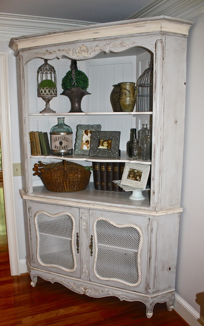 French Country Corner Cabinet traditional