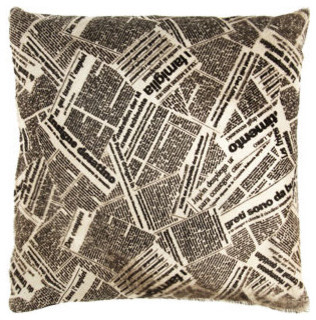 "Barneys New York Newspaper 18"" Pillow eclectic-decorative-pillows"