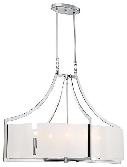 """Contemporary Clarte 36"""" Wide Iris Glass Chandelier contemporary-chandeliers"""