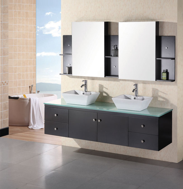 Wall Mounted Vanities Contemporary Bathroom Vanities And Sink Consoles