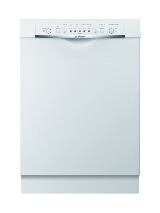 """Bosch Ascenta Series 24"""" Dlx Recessed Handle Dishwasher, White 