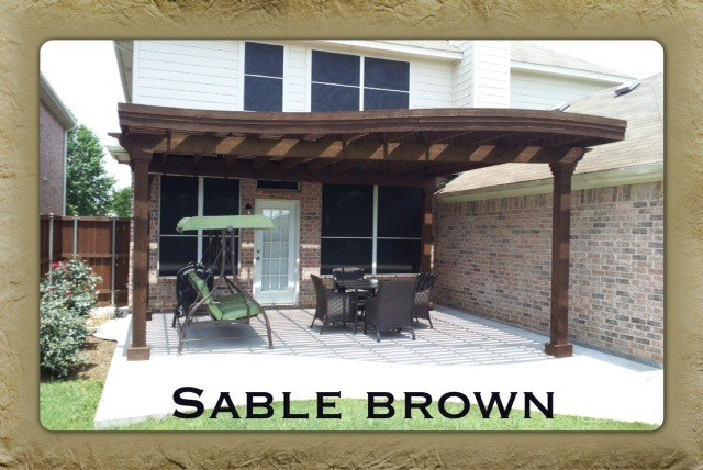 Sable Brown Stain Pergola - dallas - by Texas Best Fence