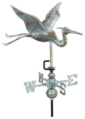 Blue Heron Garden-Size Weather Vane - traditional - outdoor decor ...