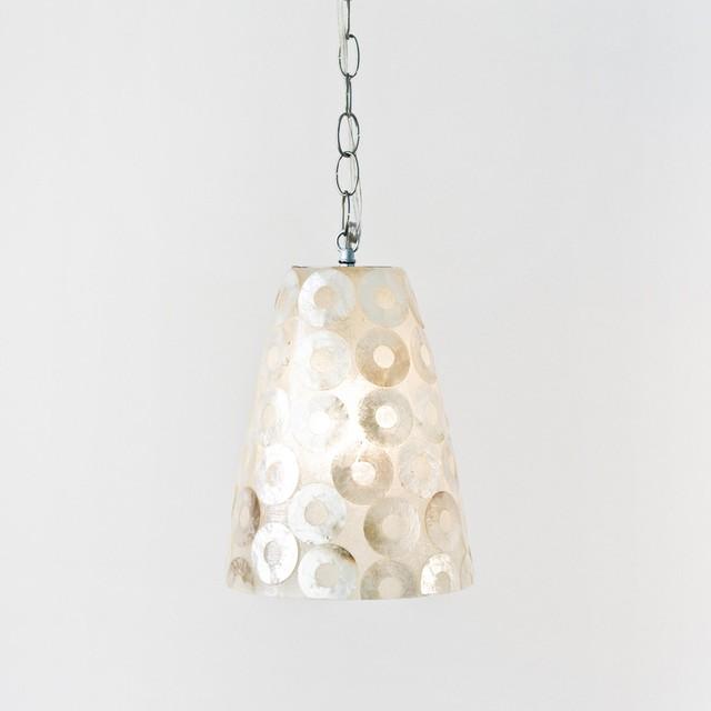 Worlds Away Ringo Capiz Shell Pendant Traditional Pendant Lighting By C