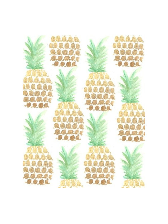 """""""24K Gold Pineapples"""" Art Print by Bouffants and Broken Hearts -"""