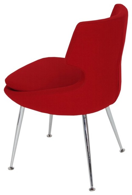 Patara Dining Chair by sohoConcept - Red Wool - contemporary