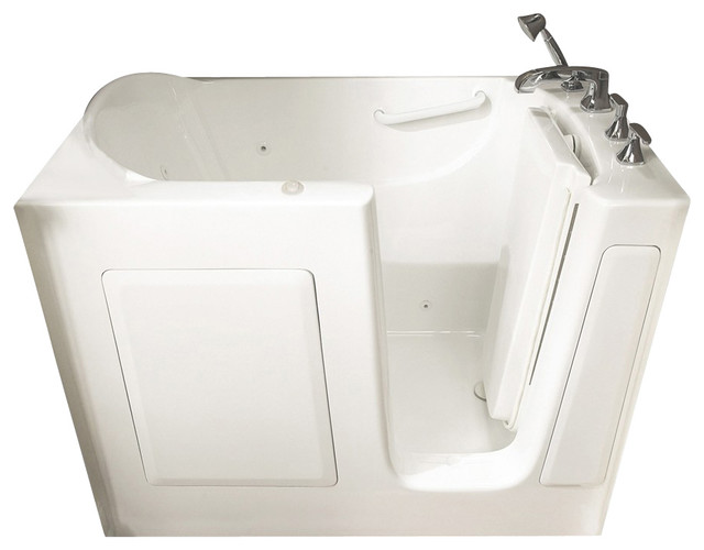 31 inch x 51 inch Walk-In Whirlpool Tub with Right Drain in White contemporary-bathtubs