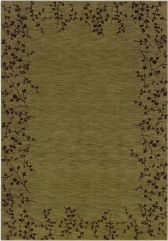 The soft green color of the Sphinx by Oriental Weavers Allure Spring 4E Rug - Gr contemporary rugs