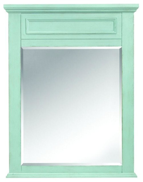... Mirrors Sadie 36 in. L x 28 in. W Wall Mirror in contemporary-bathroom