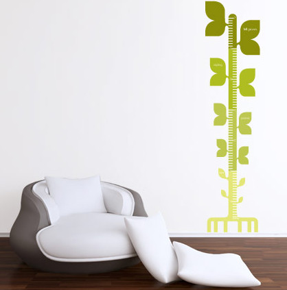 Tree Growth Chart Wall Decal contemporary decals