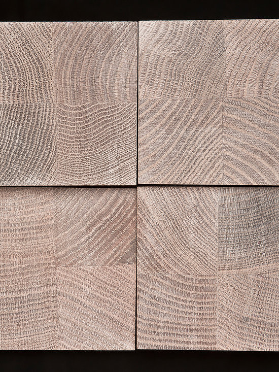 Rustic Projection - Red Oak finished in Pale Parchment