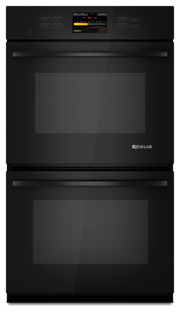 "Jenn-Air 30"" Double Electric Wall Oven, Black On Black 