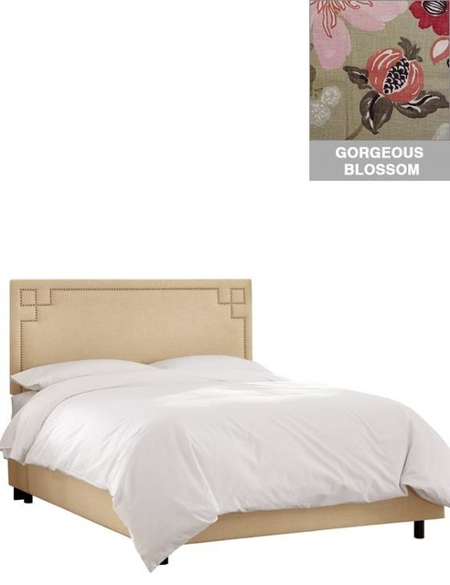 Custom Cordelia Upholstered Bed Traditional Panel Beds By Home Decorators Collection