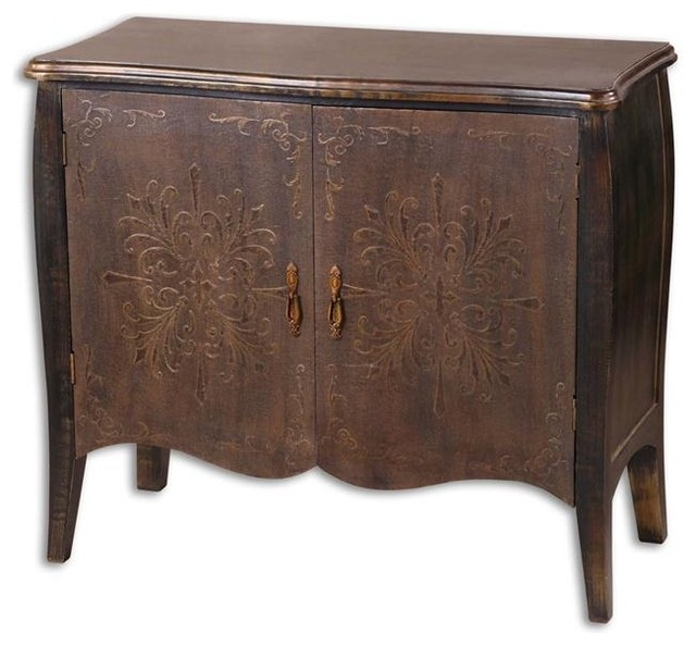 Uttermost Etoile Antiqued Console Cabinet - modern - bathroom ...