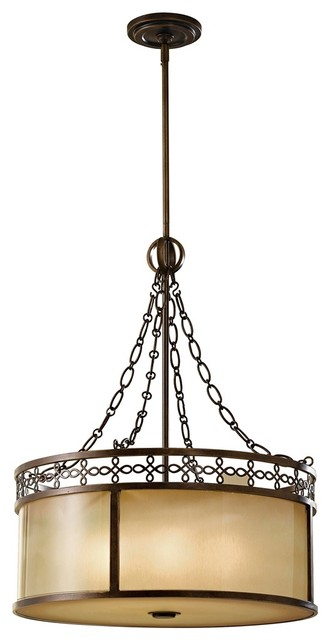 "Traditional Murray Feiss Justine 21 1/2"" Wide 6-Light Pendant Chandelier traditional-chandeliers"