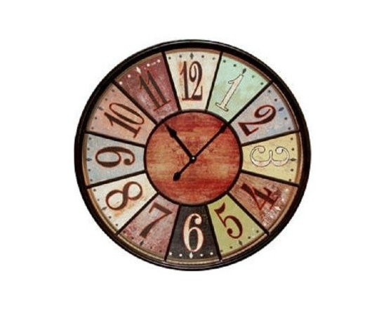 Amazon.com - Jumbo Tuscan Wooden Number Wall Clock - Extra Large Wall Clock -