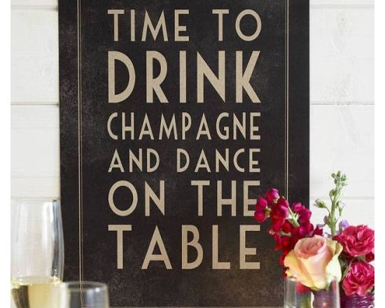 Time To Drink Champagne Framed Poster -
