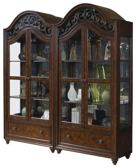 Highlands Curio China Cabinet - Traditional - Storage Cabinets - by Carolina Rustica