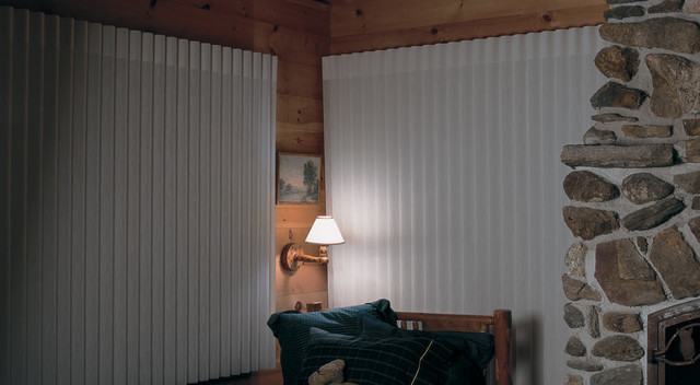 lake home ideas rustic vertical blinds other metro by accent window fashions llc. Black Bedroom Furniture Sets. Home Design Ideas