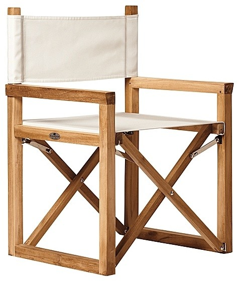 Director s Chair Ivory Modern Outdoor Lounge Chairs by Serena &amp