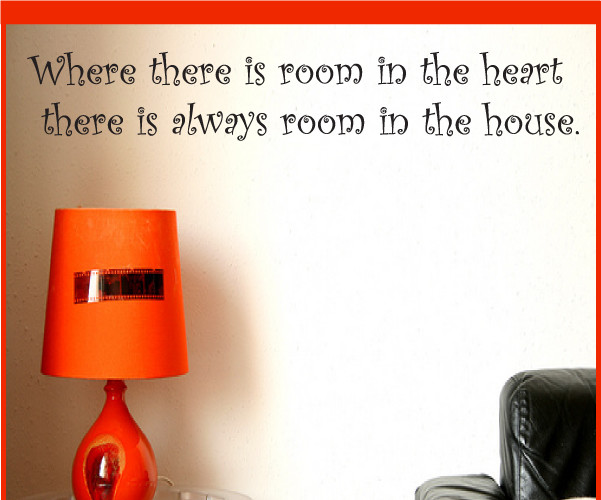 Room in the heart Vinyl Wall Decal guestquotes07, Light Purple, 18 in. contemporary-wall-decals