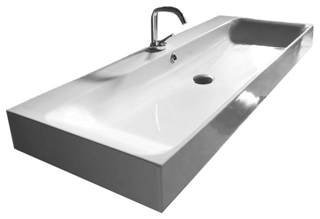 Large Bathroom Sinks With Two Faucets : ... Ceramic Bathroom Sink - Contemporary - Bathroom Sinks - by ModoBath