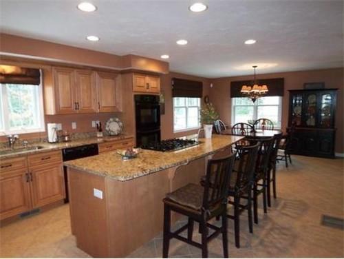 Paint Color For Kitchen on Open Concept Kitchen Living Room Design
