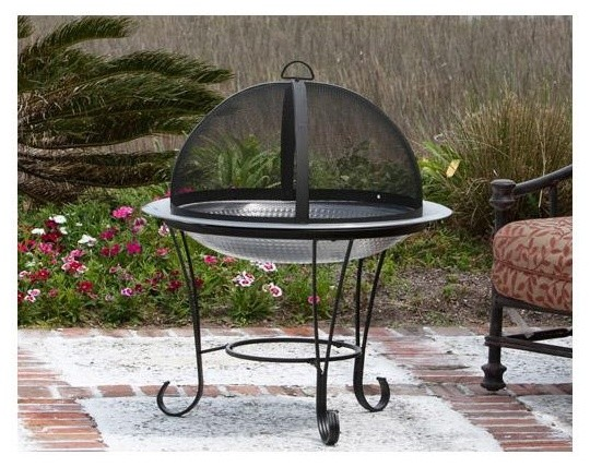 "Fire Sense 30"" Stainless Steel Cocktail Fire Pit contemporary-fire-pits"