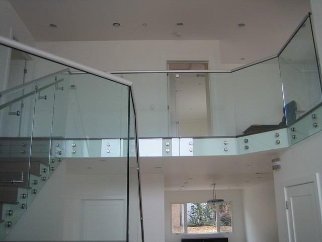 Stand-Off Glass Railings 1 modern-staircase