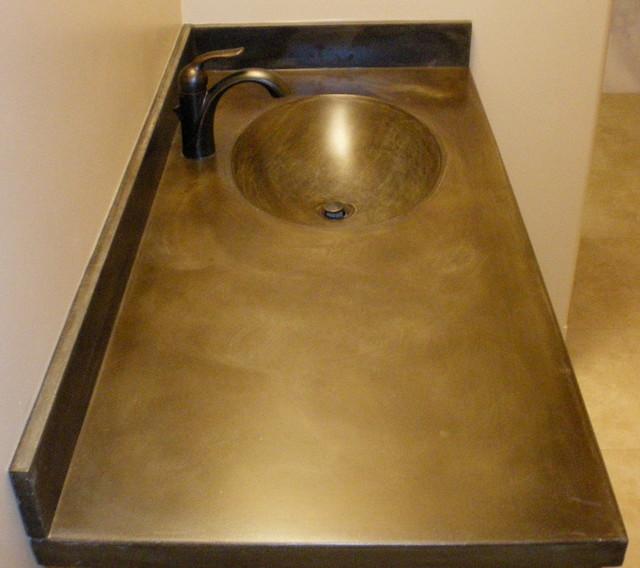 Cardiff Countertops acid wash brown - traditional - bathroom