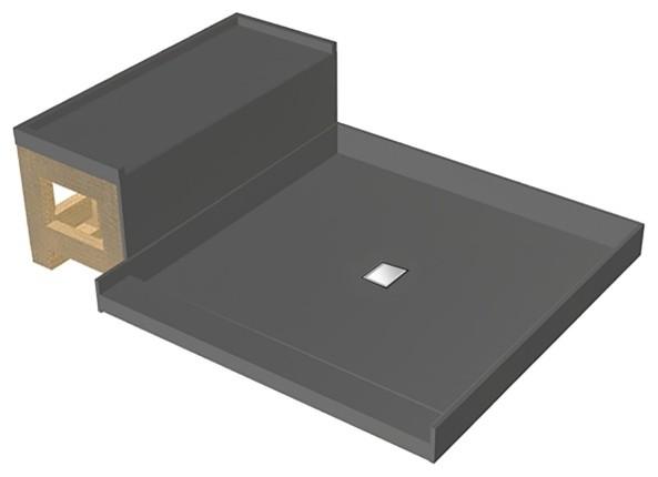TileRedi WD4248C-RB42-KIT 42x60 Pan and Bench Kit modern-showers