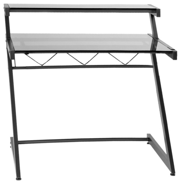 Euro Style Z Deluxe Medium Desk and Shelf X-50472 contemporary-desks