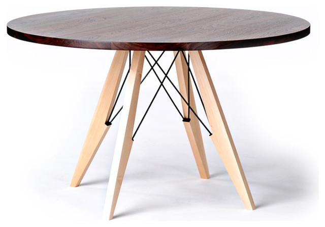 Walnut Maple and Steel Dining Table Modern Dining  : modern dining tables from www.houzz.com size 640 x 446 jpeg 48kB