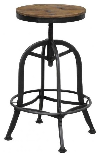 Classic Home Furniture Akron Round Barstool