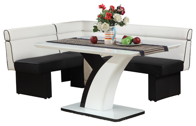 Natasha Dining Table and Nook - Contemporary - Dining Sets ...