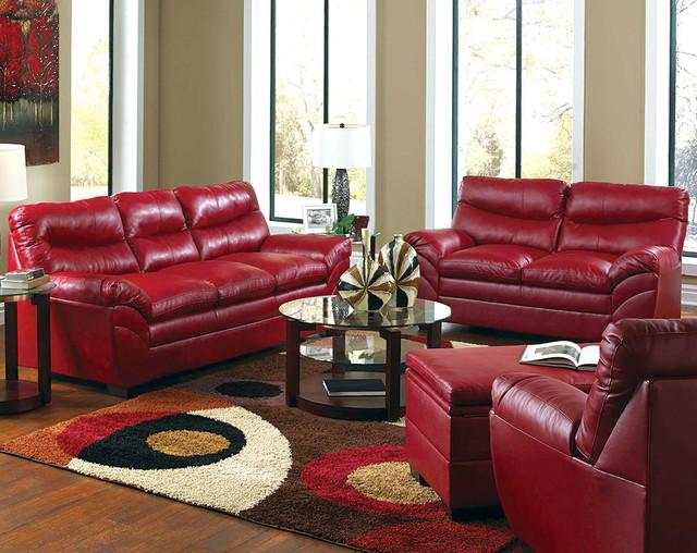 Soho Cardinal Sofa And Loveseat Set Modern Sofas