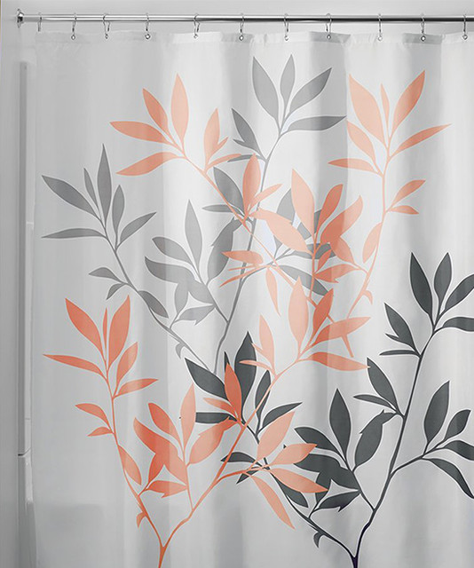 Coral And Gray Curtains Coral and Aqua Shower Curtain